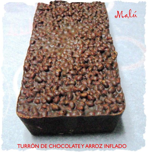 TURRON DE CHOCOLATE Y ARROZ INFLADO