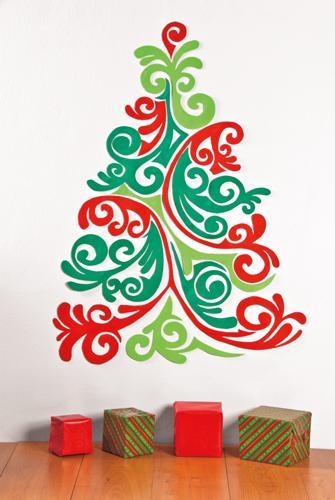 Arbolitos de navidad para pared paperblog for Decoracion navidena para oficinas