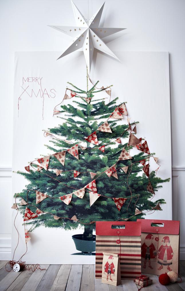 Deco-Navidad: La tela del árbol de Navidad de IKea