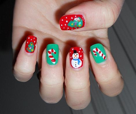 Ideas para decorar tus u as navidad paperblog - Decoracion de unas para navidad ...