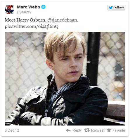 Marc Webb nos presenta al Harry Osborn de 'The Amazing Spider-Man 2'