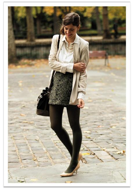 falda-verde-americana-beige-balamoda