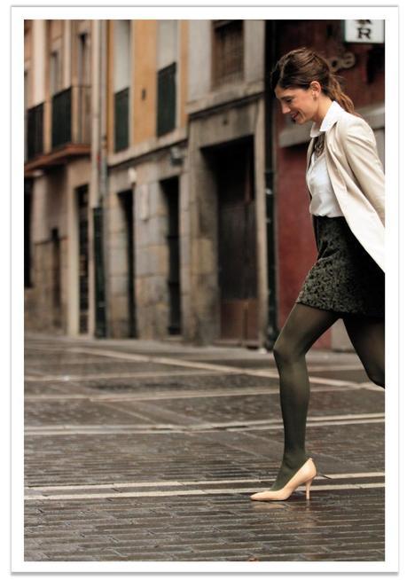 falda-verde-americana-beige-balamoda 8