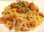 Espaguetis huevo, chorizo bacon