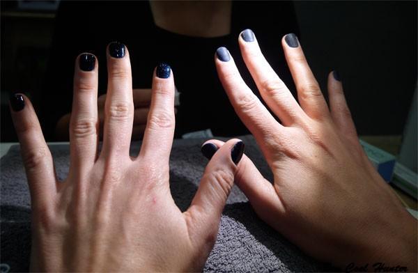 Mi manicura shellac con decoraci n en les ungles de la for Decoracion unas shellac
