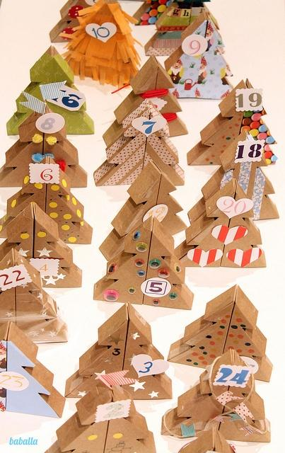 Manualidades calendario de navidad paperblog for Calendario manualidades