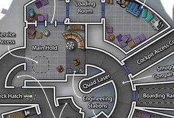 El interior del halc n milenario milenium falcon paperblog for Interior halcon milenario