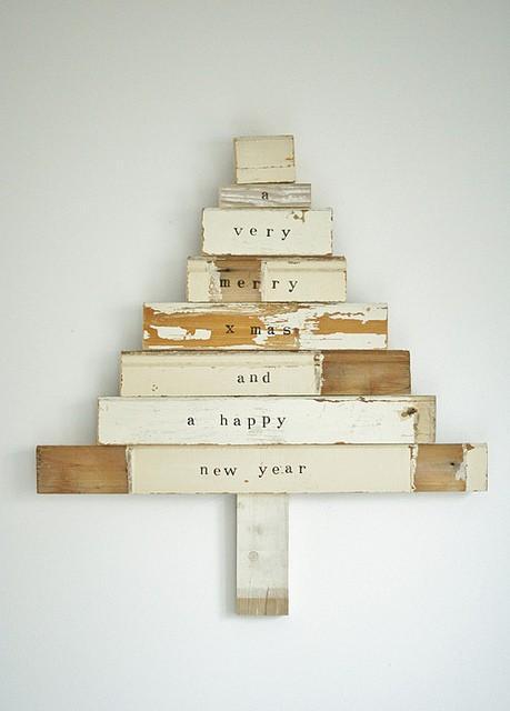 rboles de navidad con madera - Arbol De Navidad De Madera