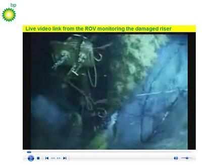 BP transmite en directo por Internet el vertido de crudo