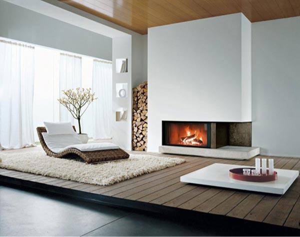 Chimeneas modernas para nuestras casas paperblog for Sala con camino
