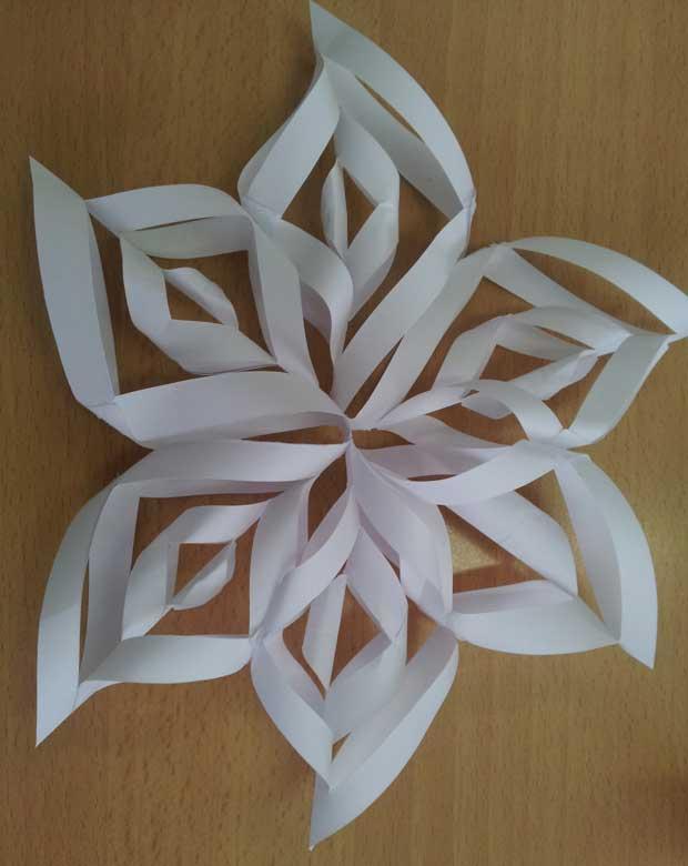 Estrellas de nieve para decorar la navidad paperblog for Estrella de nieve