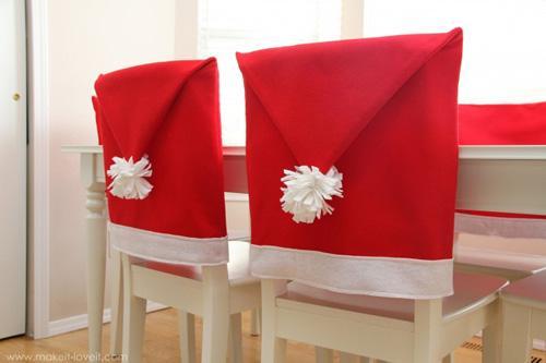como decorar las sillas en navidad