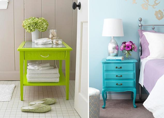 Recicla muebles viejos paperblog - Muebles pintados de colores ...
