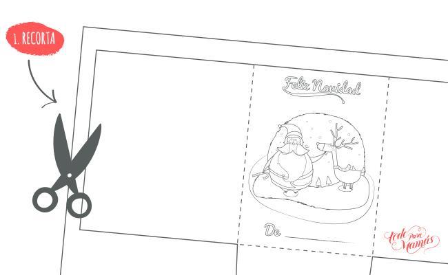 postal tarjeta de navidad para imprimir