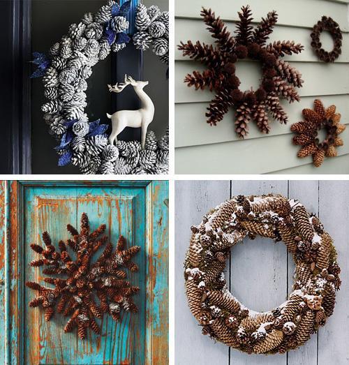 Deco navidad con pi as paperblog for Decoracion con pinas secas