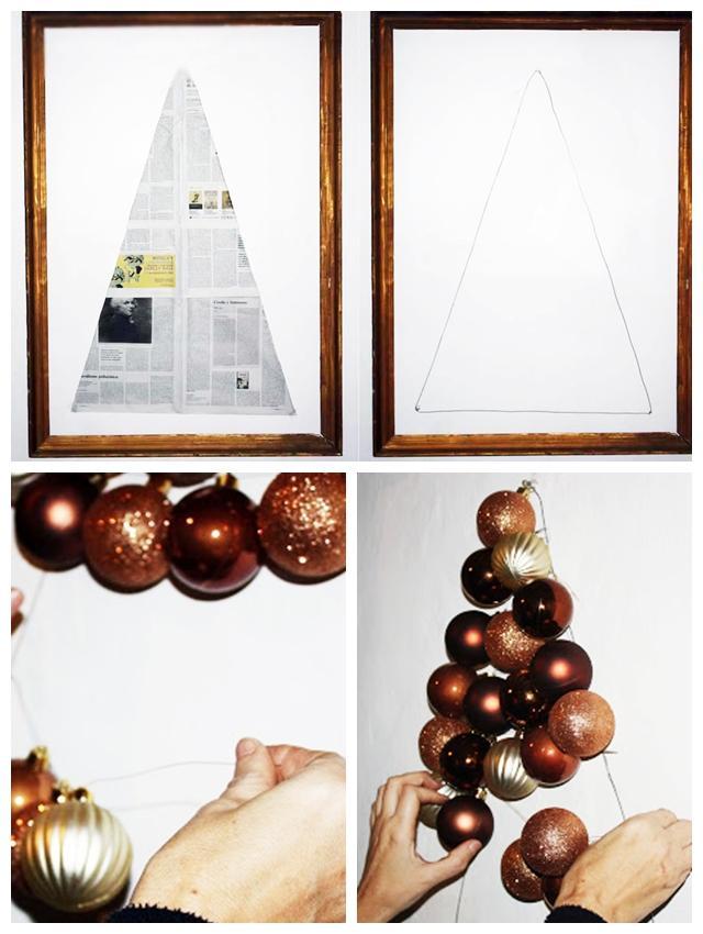 Diy navidad el rbol de bolas de navidad de mummyandannie - Bolas de navidad grandes ...