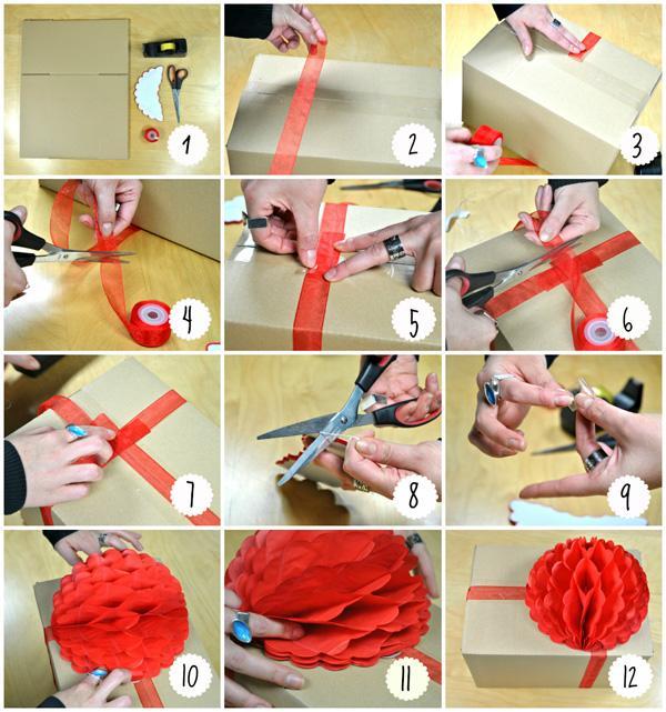 Ideas para envolver regalos adorna con bolas de nido de - Envolver regalos de navidad ...