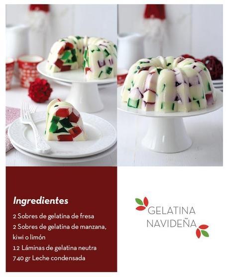 gelatinanavideña 1 Receta de gelatina navideña
