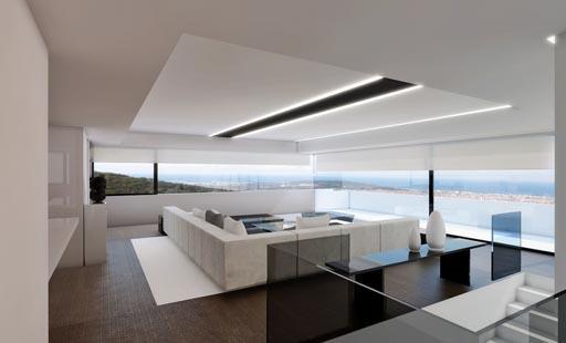 A cero presenta un proyecto interiorismo en una vivienda for Pisos diafanos madrid
