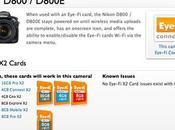 Eye-Fi Actualiza Tarjetas compatibles Cámara Nikon D800