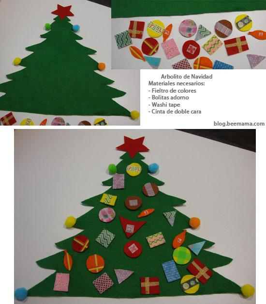Diy rbol de navidad de fieltro paperblog - Como decorar un dibujo de navidad ...