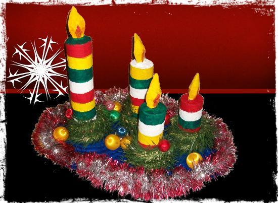 Diy centro de mesa navide o paperblog - Centros de mesa navidenos manualidades ...