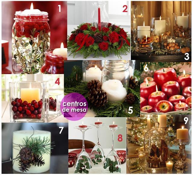 Viste tu casa de navidad adornos y centros de mesa - Preparar mesa navidad ...