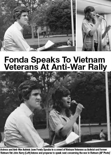 John Kerry y Jane Fonda 2004