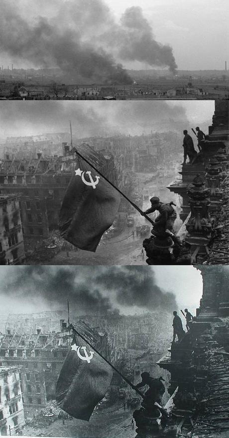 Toma del Reichstag por el ejercito Rojo en 1945