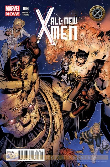 All-New X-Men Nº 6 Portada de Chris Bachalo