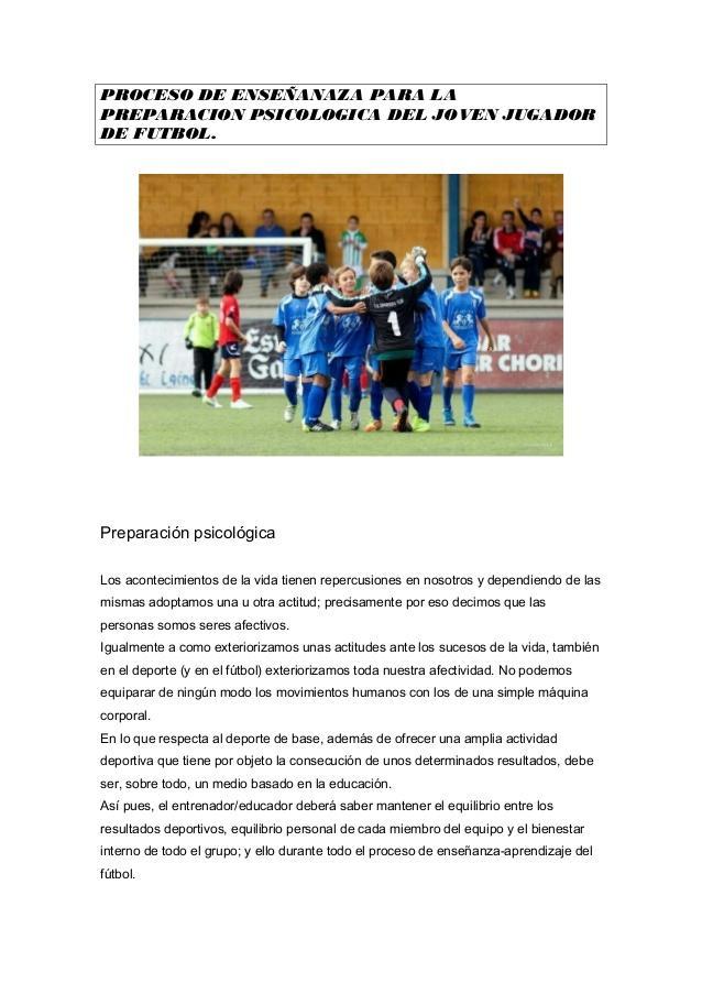 Preparación psicológica en el fútbol