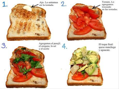 Recetas de Aperitivo   Pan de Molde, Tomate, Queso Manchego y Aguacate   Aperitivos fáciles