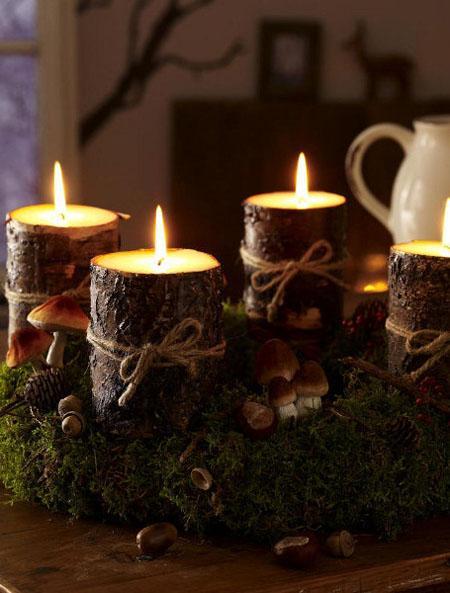 Ideas para hacer centros de mesa navide os paperblog for Centros navidenos caseros