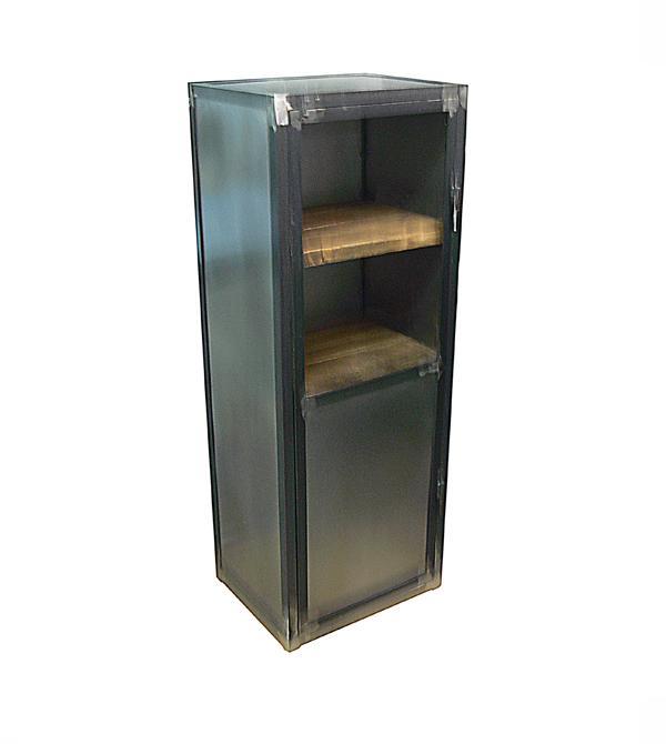 Muebles de estilo industrial y vintage en acero y madera for Vitrina estilo industrial