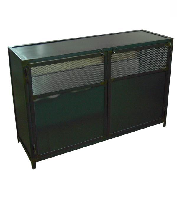 Muebles de estilo industrial y vintage en acero y madera for Muebles estilo l