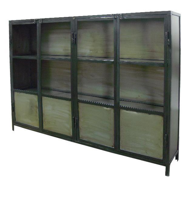 Muebles de estilo industrial y vintage en acero y madera for Armarios estilo industrial