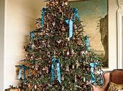 Decoración navideña tonos azules verdes