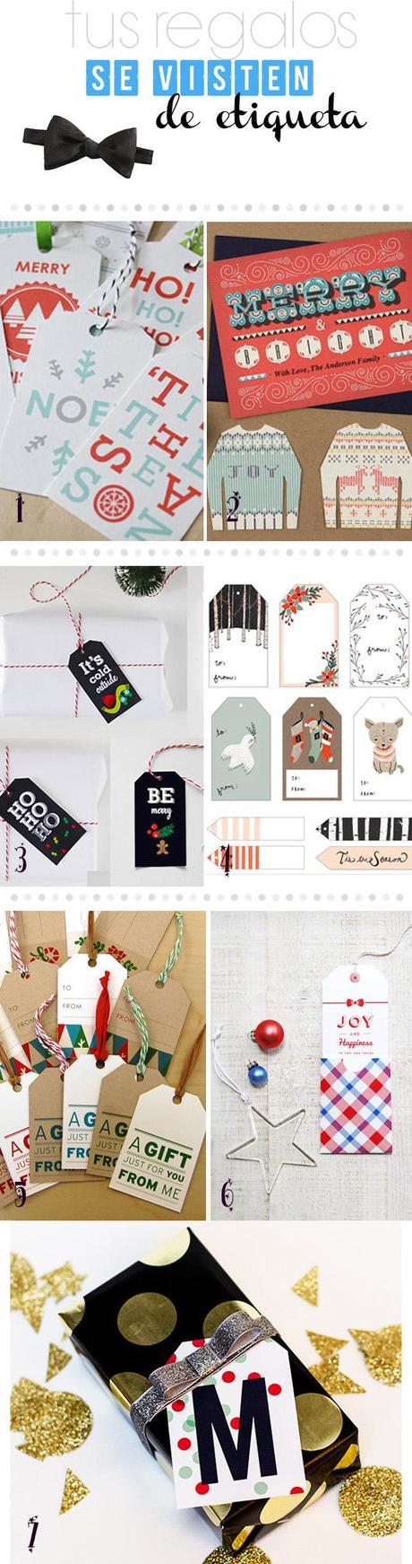 Etiquetas de Navidad – Imprimibles
