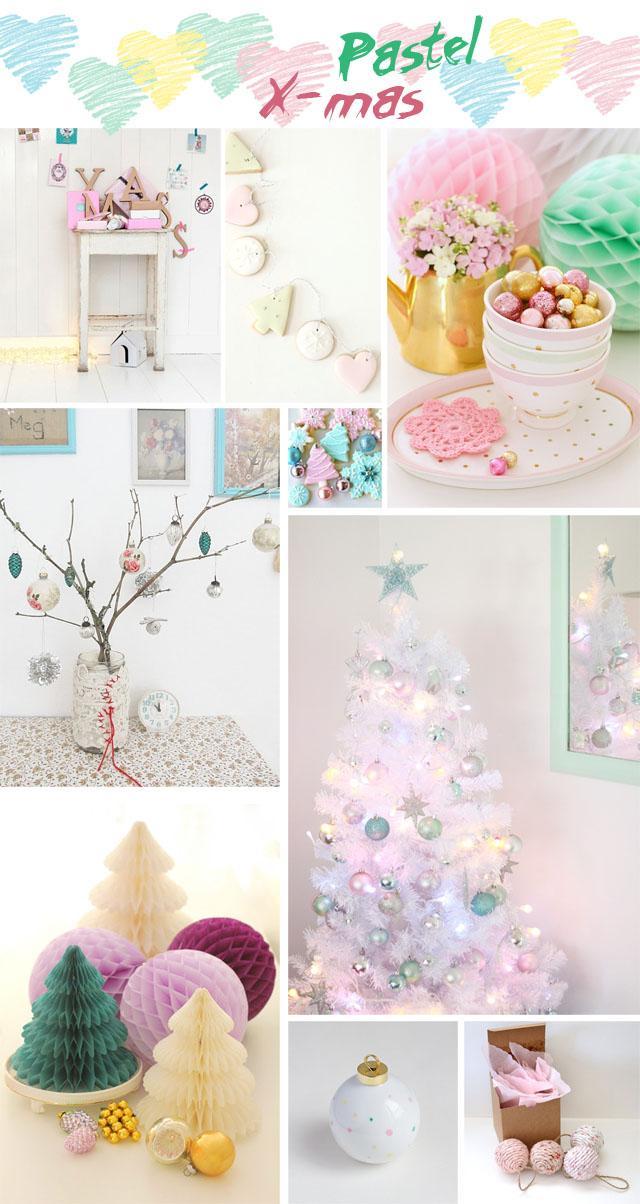 Navidad en colores pastel - Paperblog