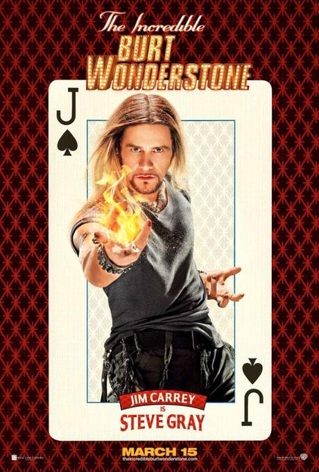 "Nuevo cartel de Jim Carrey en ""The Incredible Burt Wonderstone"""