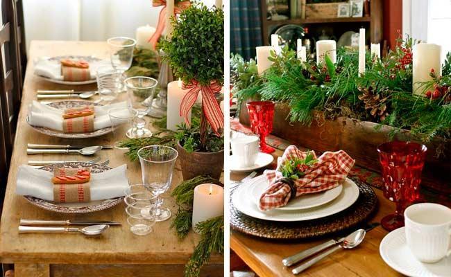 mesas navidad campestre mesas de navidad