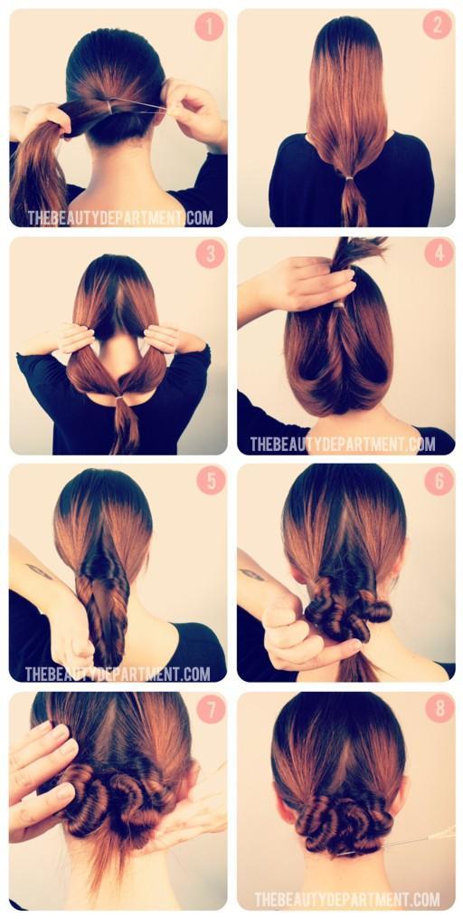 Причёски на каждый день на средние волосы своими руками картинки