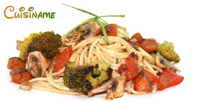 Espaguetis con verduras al wok recetas sanas paperblog for Espaguetis para dos