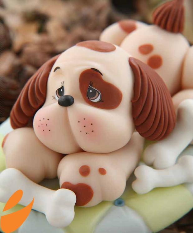 Paso a paso modelar un perro con fondant paperblog for Ceramica para modelar