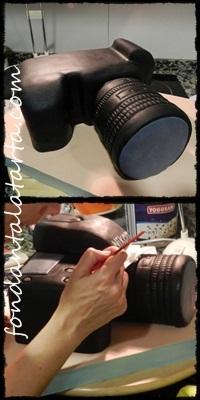 Paso a paso: Tarta cámara de fotos en 3D