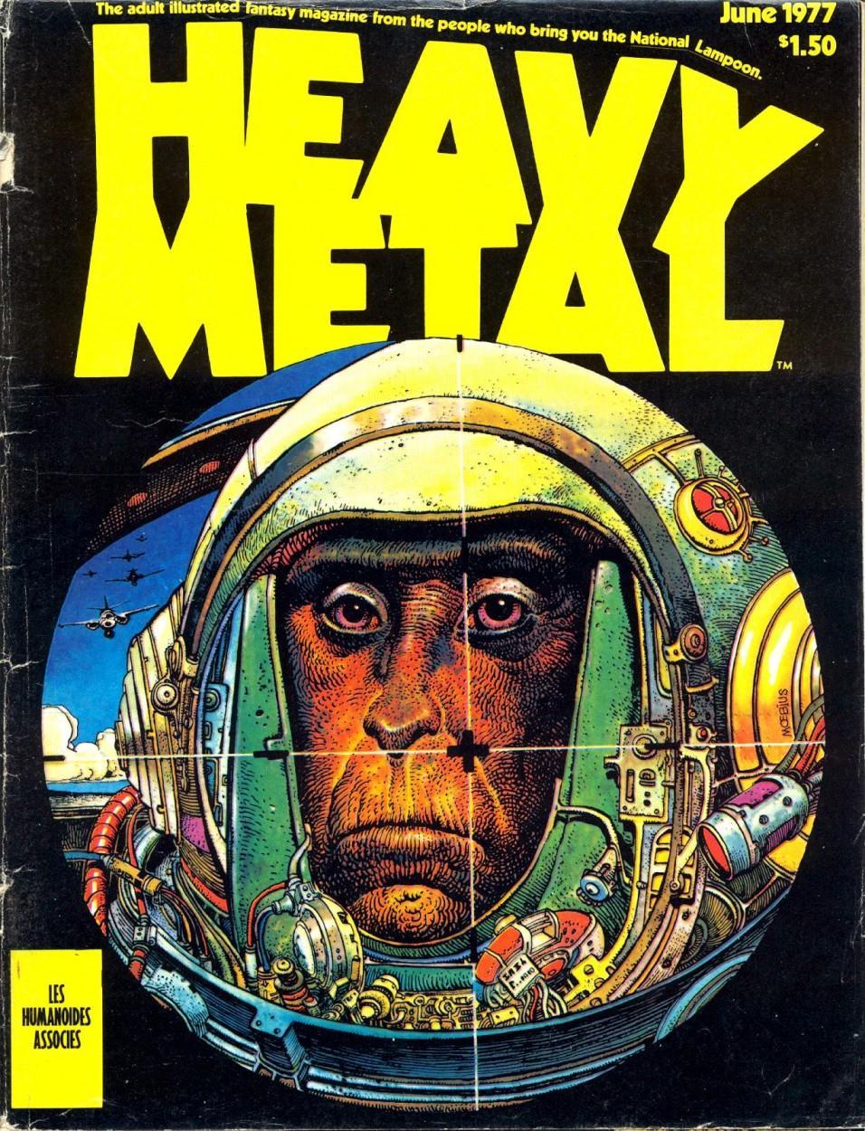 Heavy Metal Magazine 1977 sept NIGHT GRASS, MAJOR FATAL, TEONANACATL GENESE