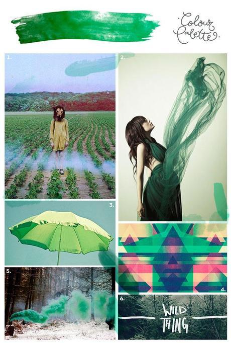Montaje Verde Para gustos, colores: Verde pino