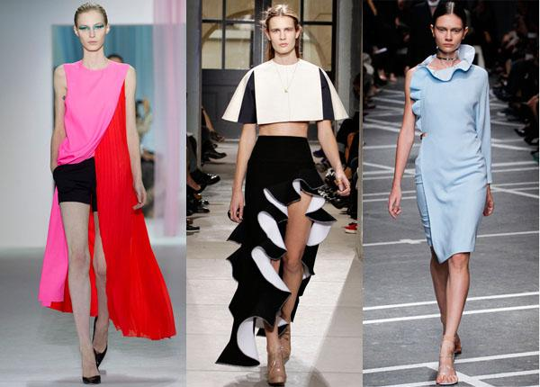 moda primavera verano 2013 asimetrico