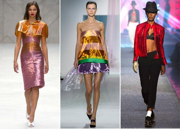 moda primavera verano 2013 metalizado