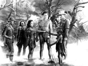 Una imagen de rodaje perteneciente a la versión perdida rodada en 1935 por James McKay bajo el título The Capture of Tarzan.